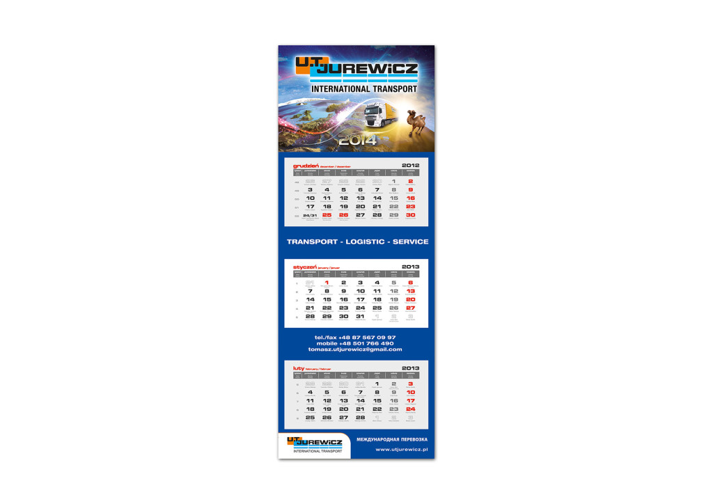 Kalendarz trójdzielny Jurewicz 2014