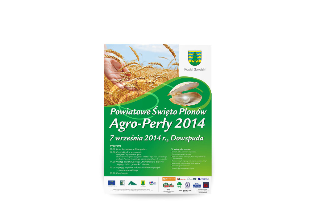 plakat powiatowego święta plonów Agro-Perły 2014