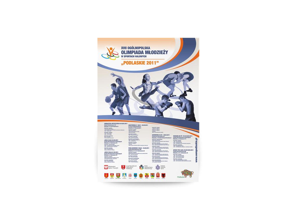 plakat XVII Ogólnopolskiej Olimpiady Młodzieżowej w sportach halowych